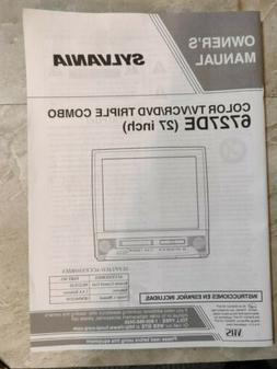 Sylvania Color TV/VCR/DVD Triple Combo 6727DE 27 inch Owners