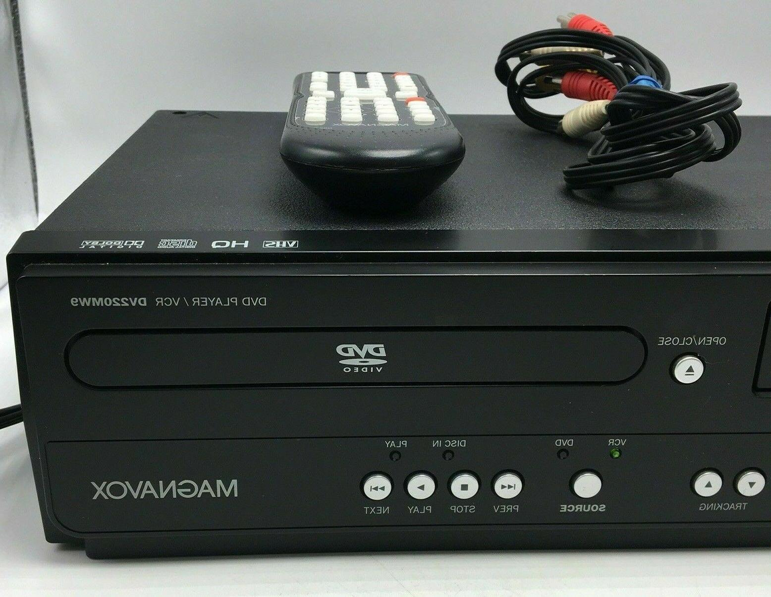 MINT! DVD/VCR COMBO VHS Recorder w/ Remote WORKS