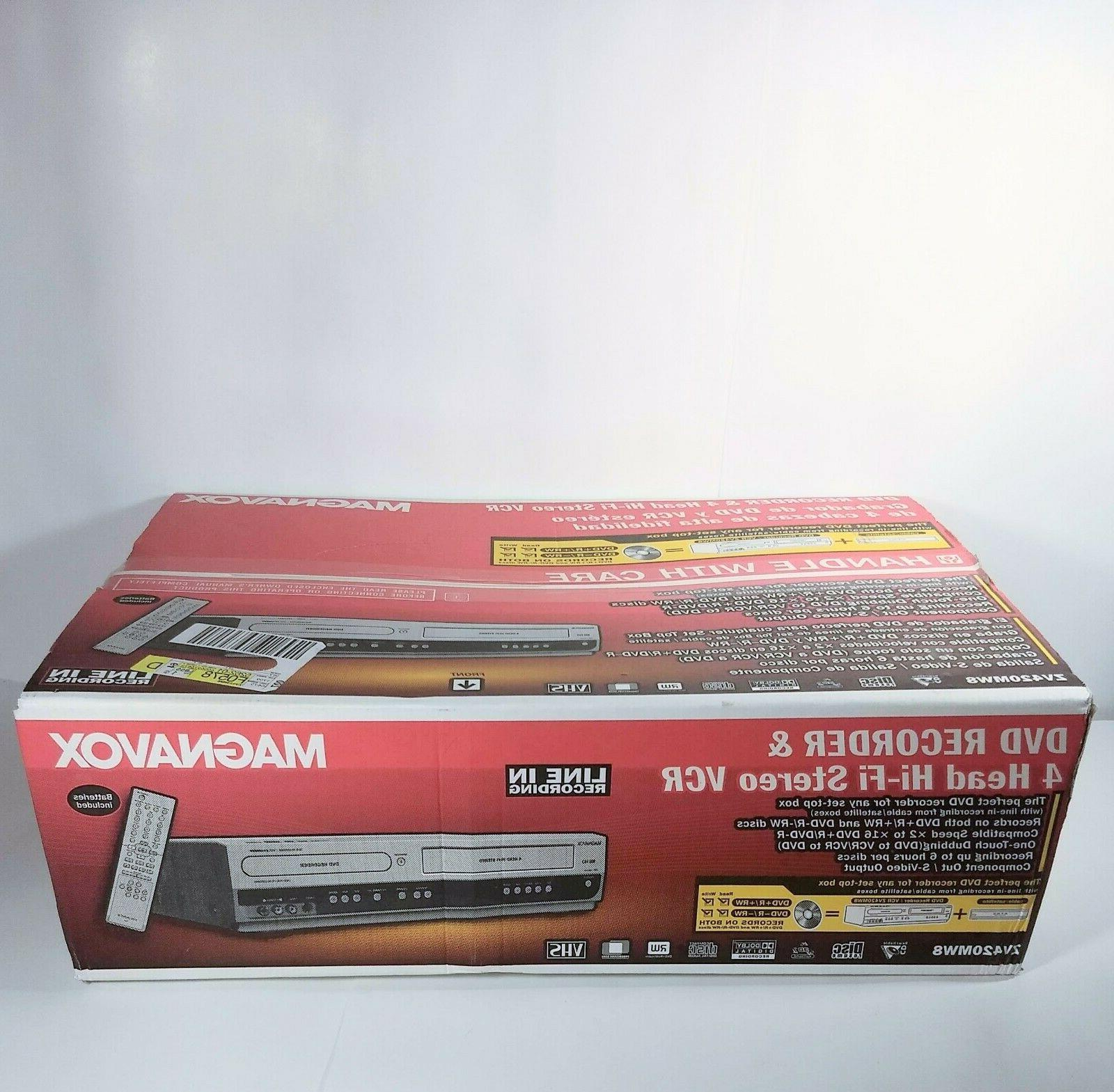 new zv420mw8 dvd recorder player vcr combo